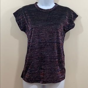 Reserved Short Sleeve Shimmer Shirt  Size S